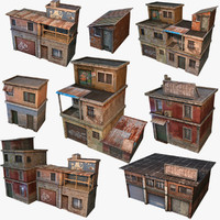 House Geto Construct Low Poly