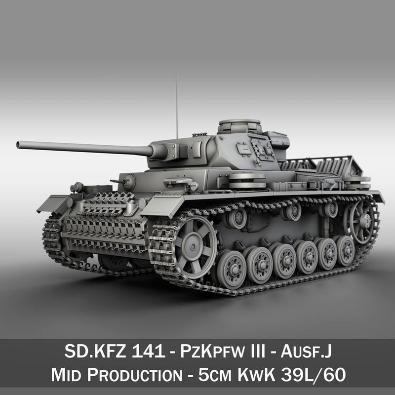sd kfz 141 pzkpfw 3d c4d