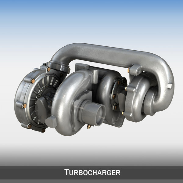 3d model turbo turbocharger