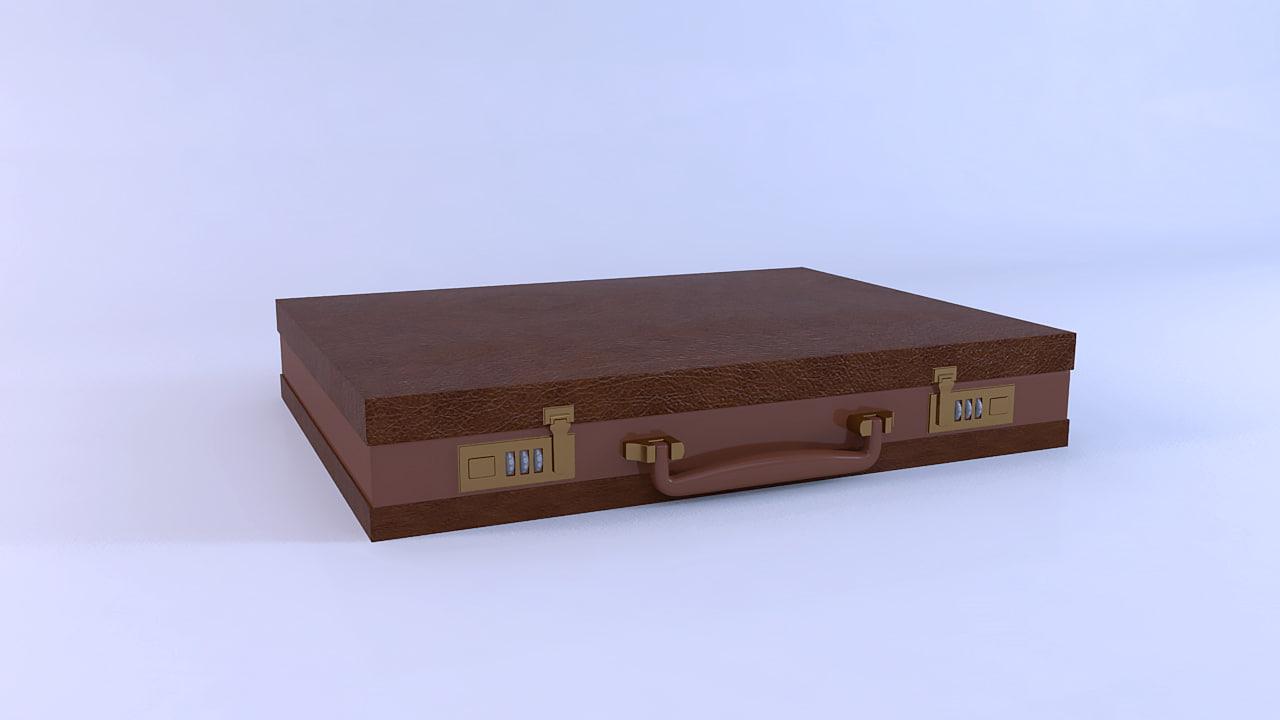 free briefcase case 3d model