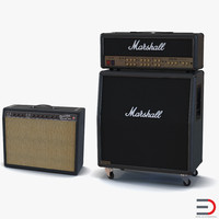3d model guitar amplifiers amp