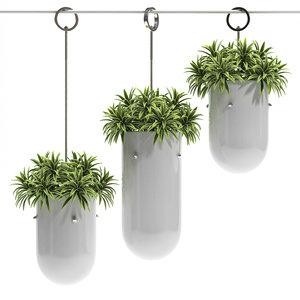 hanging pots 3d model