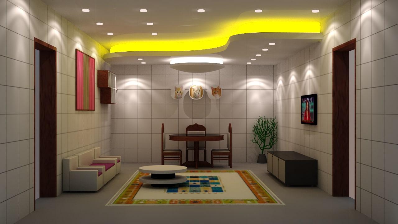 living room lighting 3d model