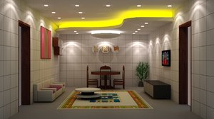 living room lighting 3d model
