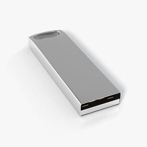 3d usb flash drive model