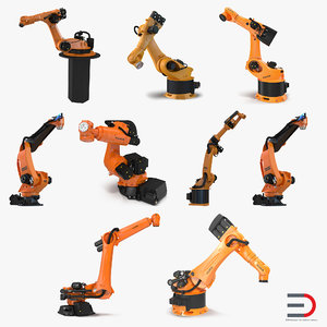 kuka robots rigged 6 3d model