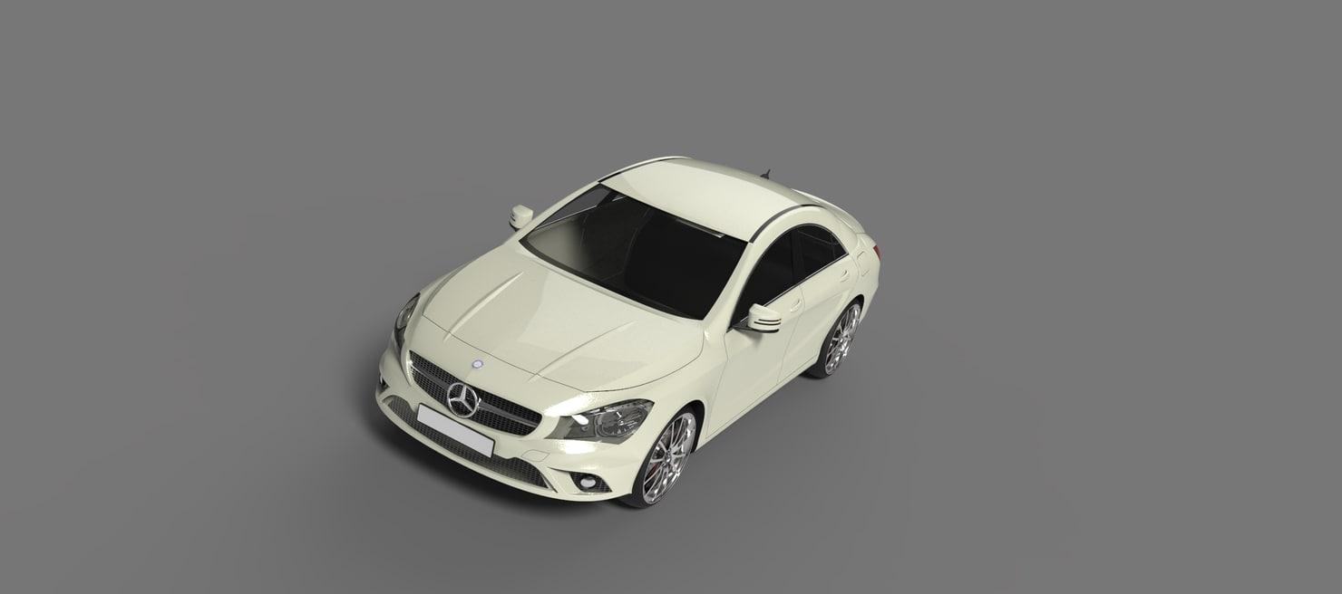 3d model merceds-benz cla-class 2013