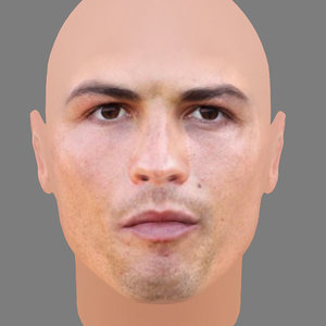 cristian ronaldo head obj