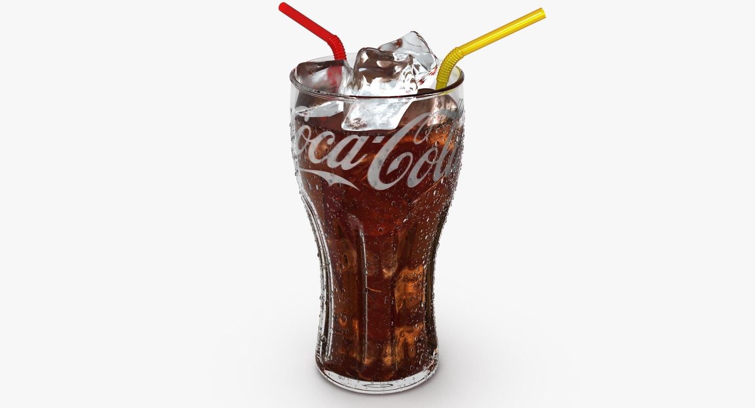 glass cola ice c4d