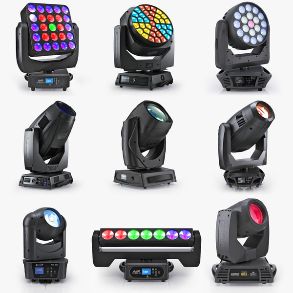 3d professional moving pro lights