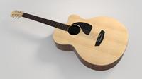 acoustic guitar 3d c4d