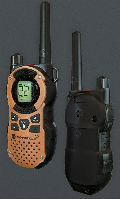 3d motorola walkie talkie model