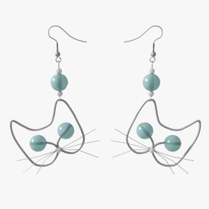 free 3ds model earring cat