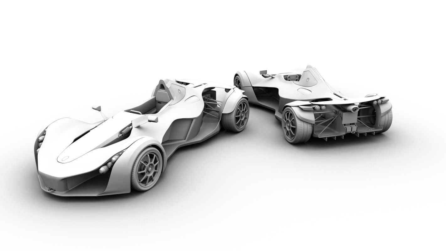 sports car bac mono 3d model