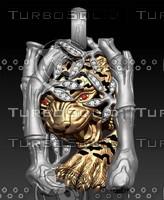 jewellery tiger 3d model