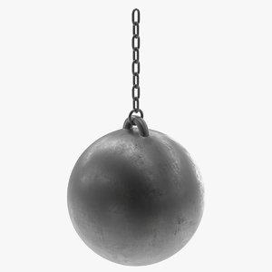 wrecking ball 3d model