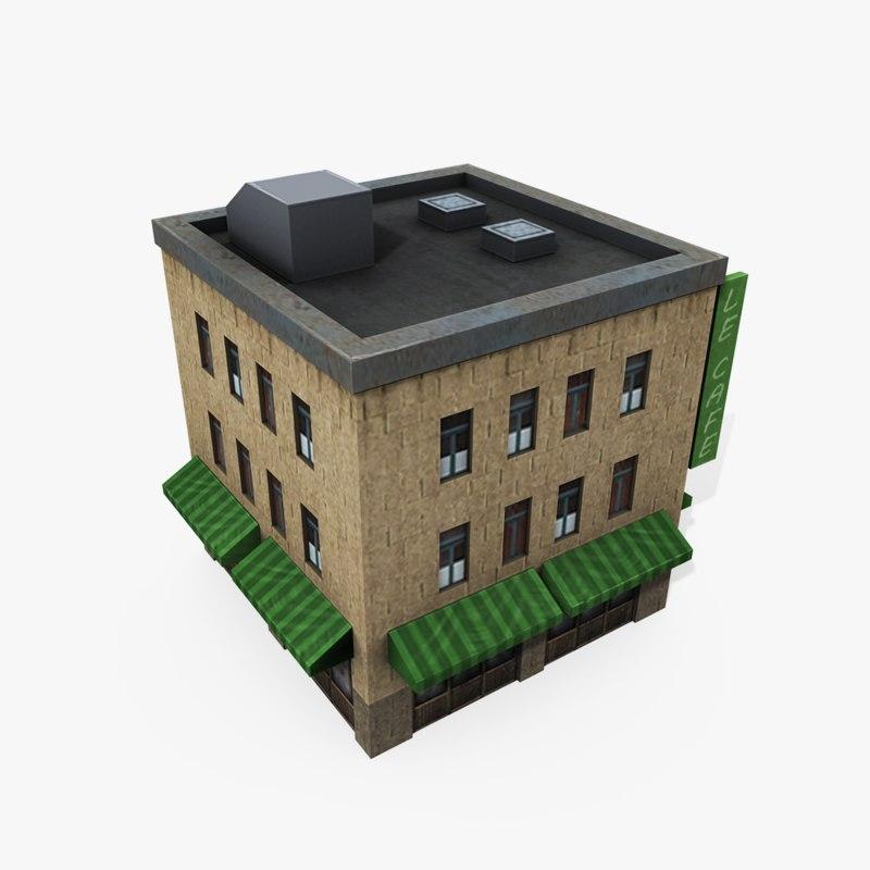 3d max downtown building