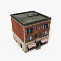 3d model downtown building