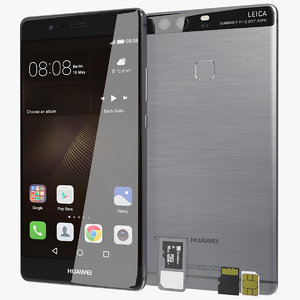 3d model realistic huawei p9 quartz