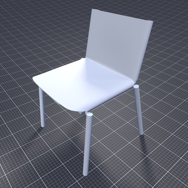 3ds kristalia 1085 edition chair office