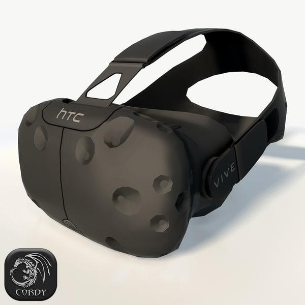 3d htc vive headset model
