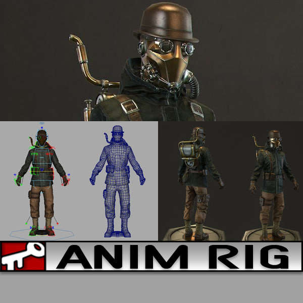 3d model of rig 2014 animation