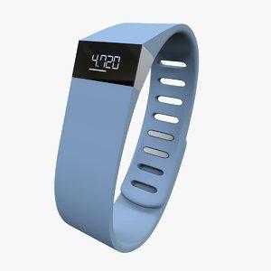 fitbit force watch 3d model