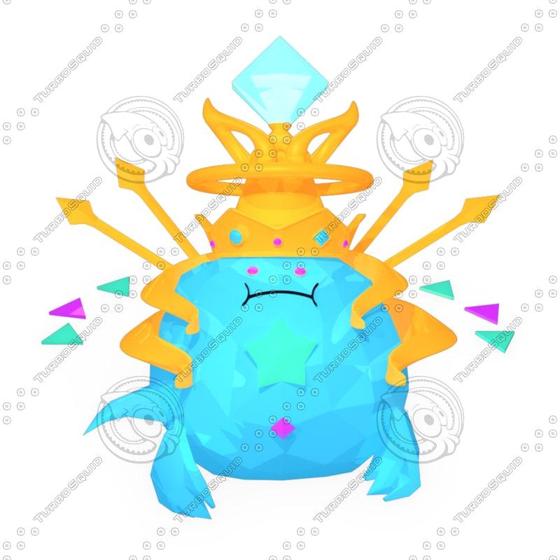 water crystal god brave 3d model