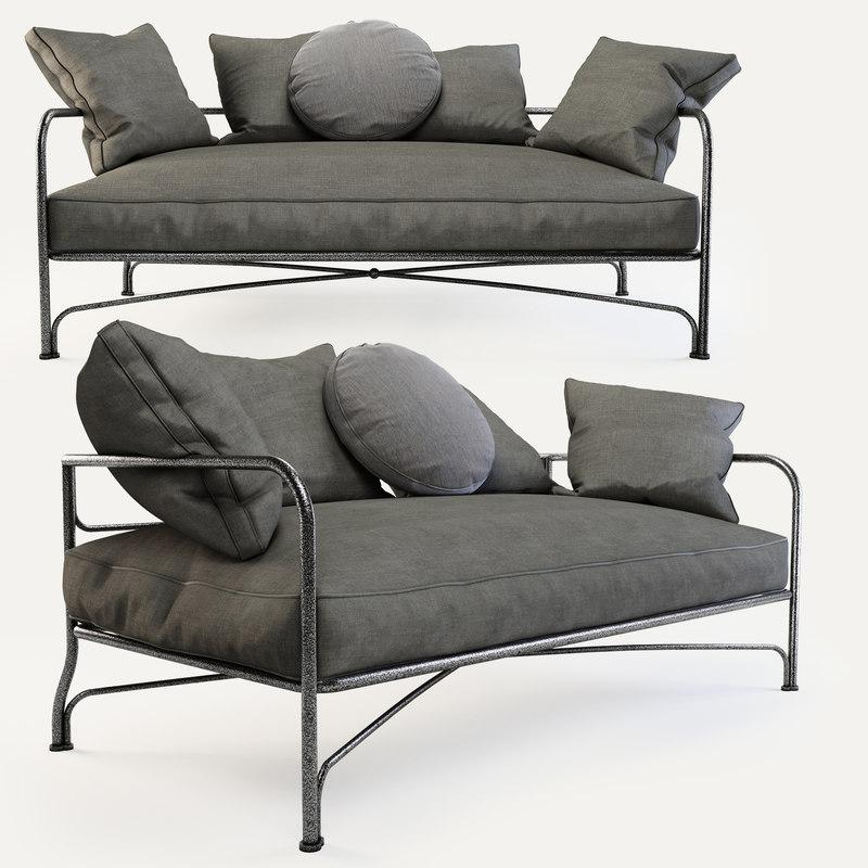 minotti le parc sofa 3d model
