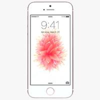 apple iphone se rose 3d model