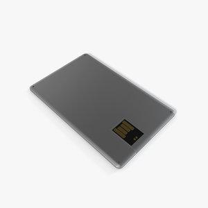 3d model usb flash drive
