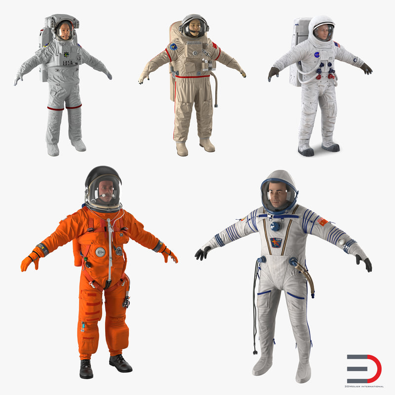 3d model of astronauts 4 modeled nasa