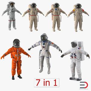 space suits 3 nasa 3d model