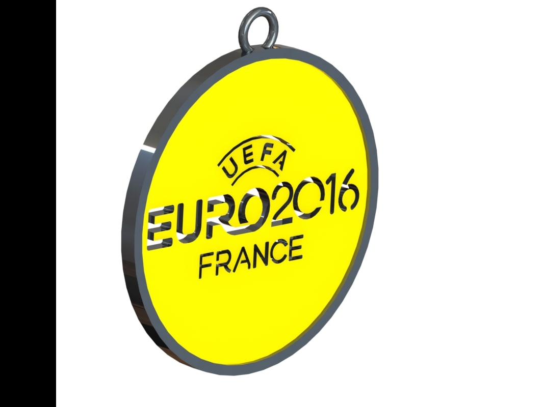 3ds logo euro 2016 necklace