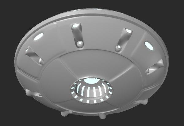 3d alien ufo model