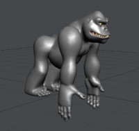 3d model of gorilla