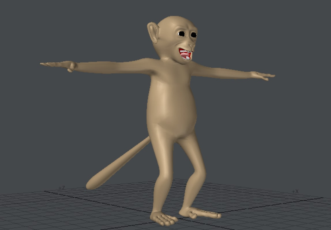 capuchin monkey 3d model