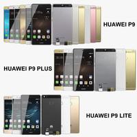 realistic huawei p9 lite 3d model