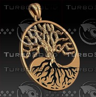3dm jewellery pendant tree