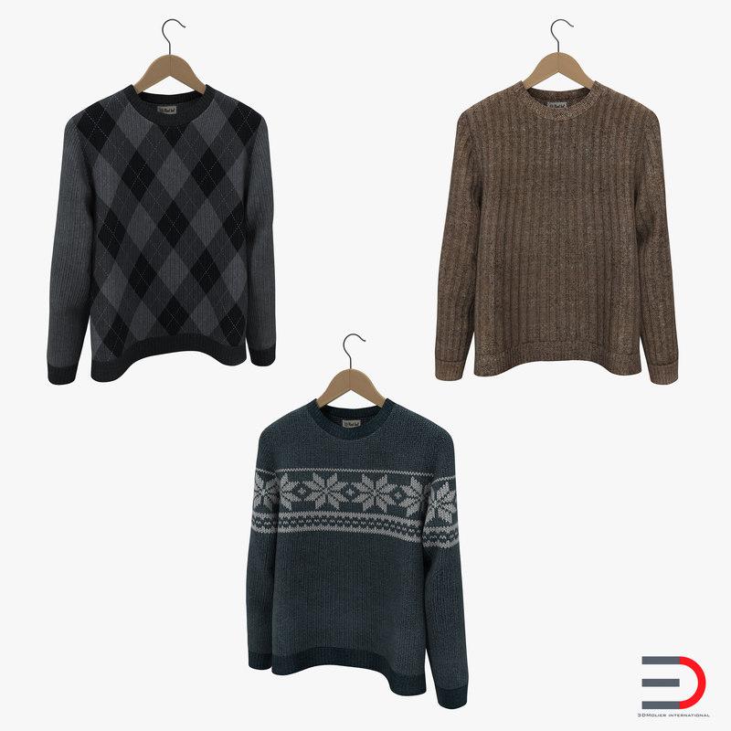 sweaters hanger 3d 3ds