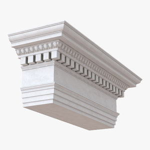 3d ionic architrave frieze greco model