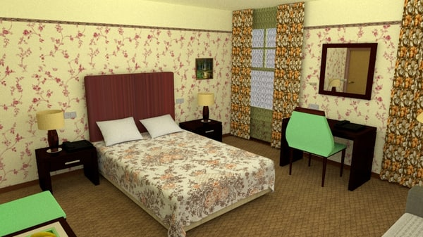x bedroom interior