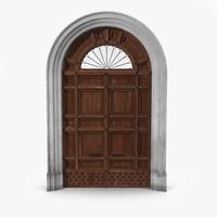 Door Greco Roman 3D Model