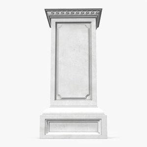 column base greco roman 3d c4d