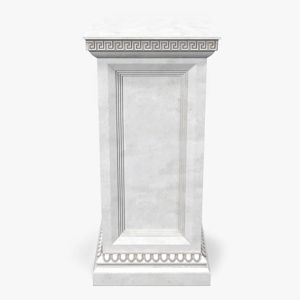 3d column base greco roman model