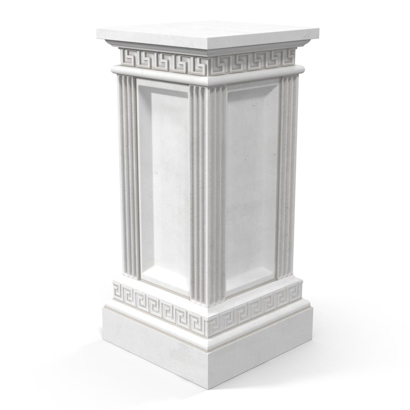 3d column base greco roman