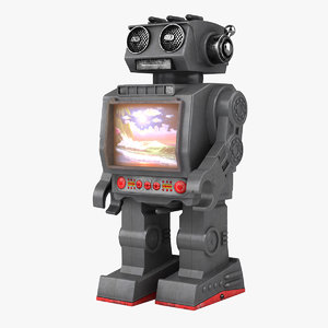 toy robot 3d max