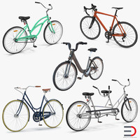 3d model of bikes set city