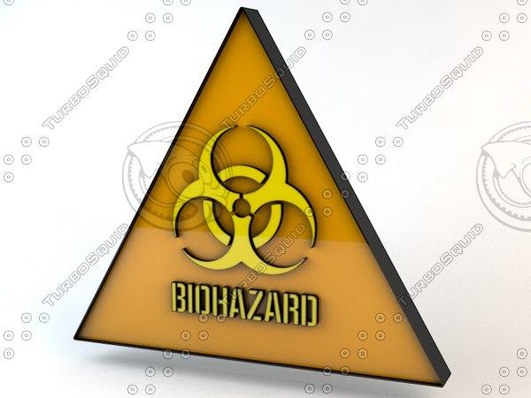 dxf biohazard sign hazard