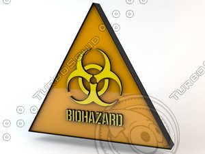 dxf biohazard sign hazard